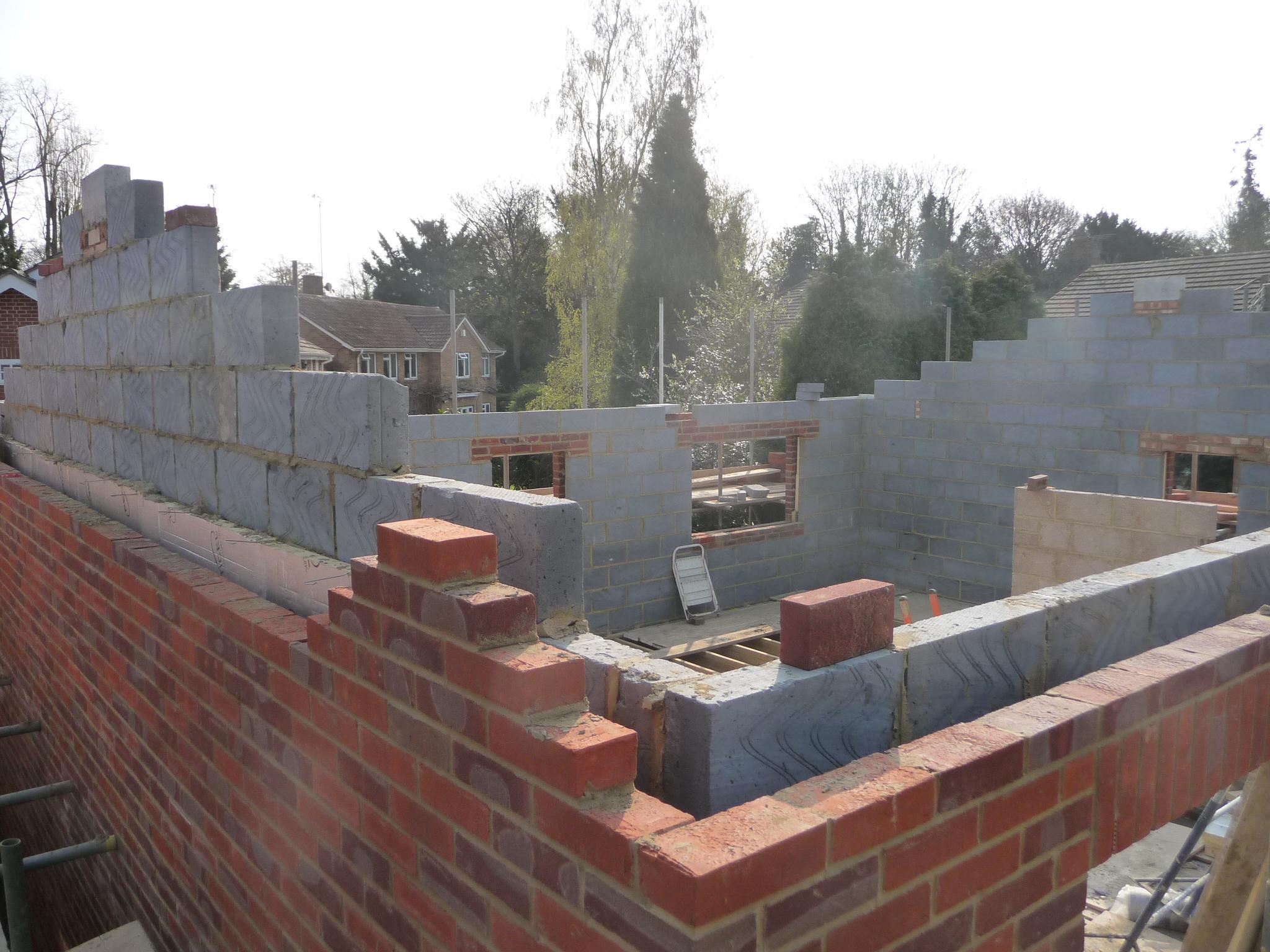 Milton drive siloam construction for Brick house construction